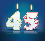 Birthday candle number 45