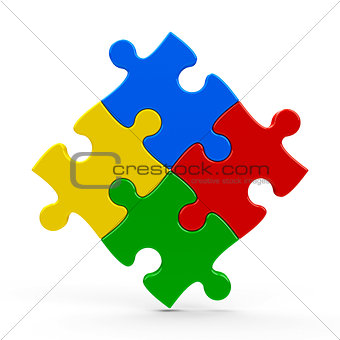 Abstract puzzle background