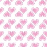 Pink hearts seamless bakground pattern
