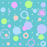 Vector circles abstract seamless pattern