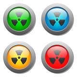 Radioactivity icon  on buttons set