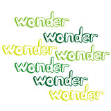 Art hand drawn text wonder