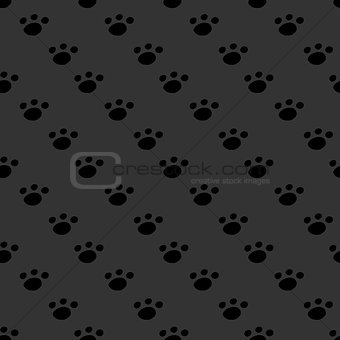 Animal footprint seamless dark pattern