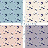 set of seamless sea pattern
