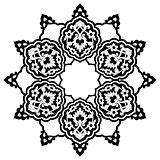 black artistic ottoman pattern series seventy eight