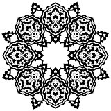 black artistic ottoman pattern series seventy nine