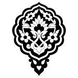 black artistic ottoman pattern series seventy seven