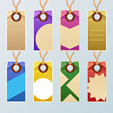 Colorful tag set
