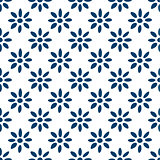 Hand drawn seamless indigo pattern
