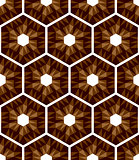 Mosaic hexagons pattern. Seamless texture.