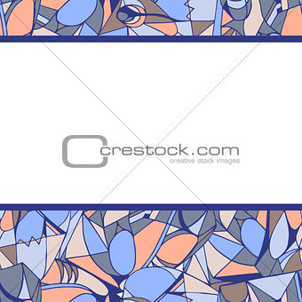 Frame of geometric pattern lilac color