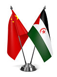 China and Sahrawi Arab Democratic Republic - Miniature Flags.