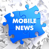 Mobile News on Blue Puzzle.