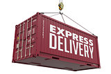 Express Delivery - Brown Hanging Cargo Container.