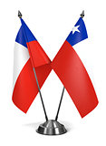 Chile- Miniature Flags.