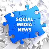 Social Media News on Blue Puzzle.