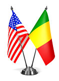USA and Mali - Miniature Flags.