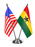 USA and Ghana - Miniature Flags.