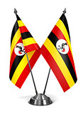 Uganda - Miniature Flags.