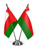 Oman - Miniature Flags.