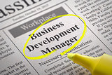 Business Development Manager Vacancy in Newspaper.