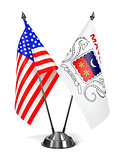 USA and Mayotte - Miniature Flags.