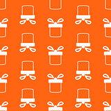 Seamless pattern of present box