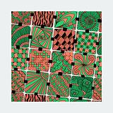 vector bright varicolored pattern zentangle