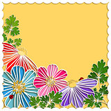 Springtime Colorful Paper Cut Flower