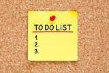 To Do List Sticky Note