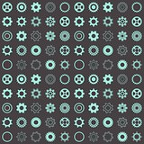 Seamless pattern with gear wheels
