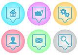 Website menu icons