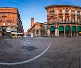 Piazza del Duomo and Via dei Mercanti in the Morning, Milan, Ita