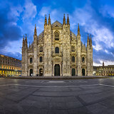 Duomo di Milano (Milan Cathedral) and Piazza del Duomo in the Mo
