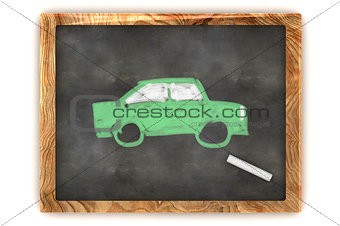 Blackboard Green Car