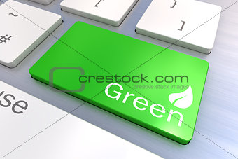 Green keyboard button