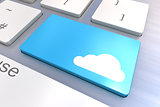 Cloud keyboard button