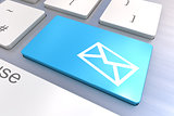 Email Concept keyboard button