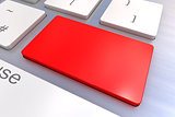 Blank Red keyboard button