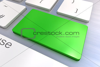Blank Green keyboard button