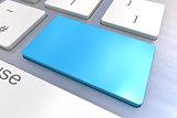 Blank Blue Keyboard button