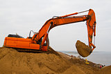 Excavator at Work - Stock Image
