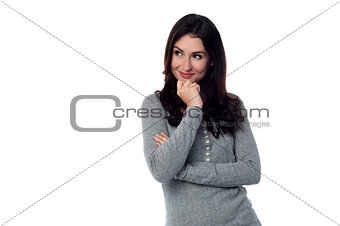 Charming young attractive woman