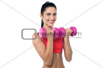 Fit young woman working out