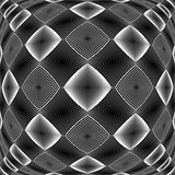 Design warped monochrome diamond pattern