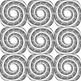 Design seamless monochrome spiral background