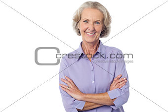 Casual senior smiling woman