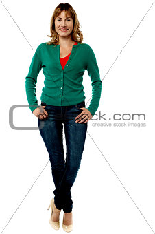 Attractive woman in trendy casuals