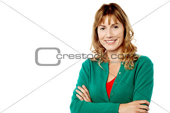 Portrait of attractive smiling woman