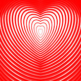Design heart twisting movement illusion background
